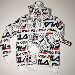 🔥FILA zip hoodie women's size Large. NEW!!